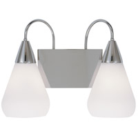 Maisonette 2 Light 16 inch Polished Silver Bath Light Wall Light