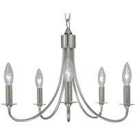 HA Framburg Maisonette 5 Light Mini Chandelier in Polished Silver 1004PS