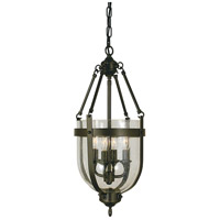 HA Framburg Hannover 4 Light Mini Chandelier in Mahogany Bronze 1014MB