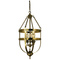 HA Framburg Hannover 5 Light Dining Chandelier in Antique Brass 1016AB