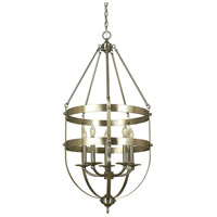 Hannover 5 Light 19 inch Brushed Nickel Dining Chandelier Ceiling Light