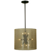 HA Framburg Sophia 3 Light Pendants in Polished Silver w/ Ebony Accents 1020PS/EB