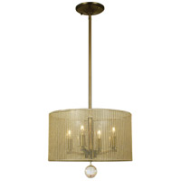 HA Framburg Simone 4 Light Mini Chandelier in Antique Brass 1024AB