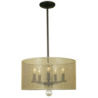 HA Framburg Yvette 5 Light Dining Chandeliers in Roman Bronze/Ebony 1025RB/EB
