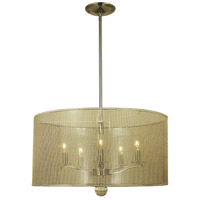 Simone 5 Light 22 inch Polished Nickel Dining Chandelier Ceiling Light