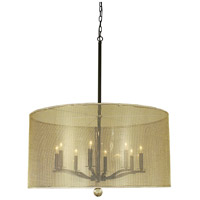 Simone 8 Light 32 inch Mahogany Bronze Foyer Chandelier Ceiling Light