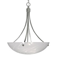 HA Framburg Veronique 3 Light Pendant in Polished Silver 1030PS