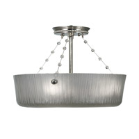 HA Framburg River North 3 Light Semi-Flush Mount in Polished Silver 1037PS