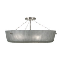 HA Framburg River North 1 Light Semi-Flush Mount in Polished Silver 1038PS