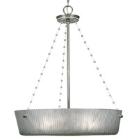 HA Framburg River North 3 Light Pendant in Polished Silver 1040PS