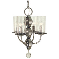Compass 4 Light 14 inch Brushed Nickel Mini Chandelier Ceiling Light in Without Glass