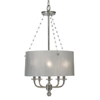 HA Framburg River North 5 Light Chandelier in Polished Silver 1045PS
