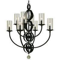 Compass 8 Light 29 inch Matte Black Dining Chandelier Ceiling Light