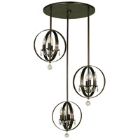 HA Framburg Constellation 12 Light Island Chandelier in Siena Bronze 1049SBR