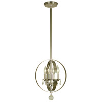 Constellation 4 Light 11 inch Polished Nickel Pendant Ceiling Light
