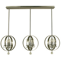Framburg 1051BN Constellation 12 Light 42 inch Brushed Nickel Island Chandelier Ceiling Light
