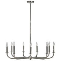 HA Framburg Moderne 9 Light Chandelier in Polished Silver 1060PS