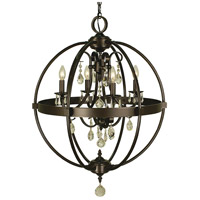 Compass 4 Light 21 inch Mahogany Bronze Dining Chandelier Ceiling Light