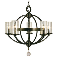 Compass 5 Light 25 inch Mahogany Bronze Dining Chandelier Ceiling Light