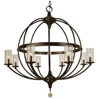 Compass 8 Light 40 inch Mahogany Bronze Foyer Chandelier Ceiling Light in Without Glass