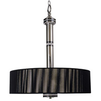 HA Framburg Princessa 3 Light Pendant in Polished Silver  w/ Ebony Accents 1080PS/EB