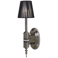 HA Framburg Princessa 1 Light Bath Light in Polished Silver  w/ Ebony Accents 1081PS/EB