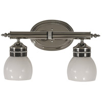 HA Framburg Princessa 2 Light Bath Light in Polished Silver  w/ Ebony Accents 1082PS/EB