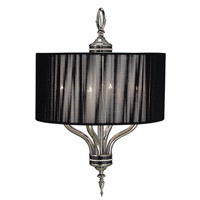 HA Framburg Princessa 4 Light Chandelier in Polished Silver  w/ Ebony Accents 1084PS/EB