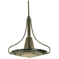 HA Framburg Brocatto 1 Light Pendant in Ebony/Black Swirl 1093EB/BL