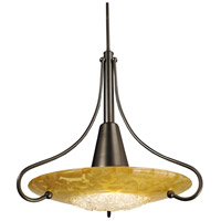 HA Framburg Brocatto 1 Light Pendant in Mahogany Bronze/Gold Leaf 1095MB/GL
