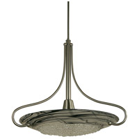 HA Framburg Brocatto 1 Light Pendant in Ebony/Black Swirl 1099EB/BL