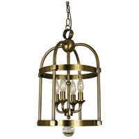 HA Framburg Compass 4 Light Mini Chandelier in Antique Brass 1103AB