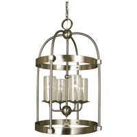 Framburg 1104BN Compass 4 Light 17 inch Brushed Nickel Dining Chandelier Ceiling Light