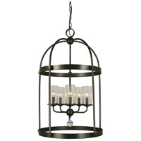HA Framburg Compass 5 Light Dining Chandelier in Mahogany Bronze 1105MB