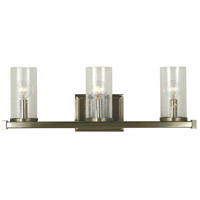 Compass 3 Light 22 inch Brushed Nickel Sconce Wall Light