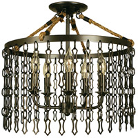 Framburg 1115MB Warwick 5 Light 17 inch Mahogany Bronze Semi-Flush Mount Ceiling Light