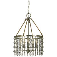 HA Framburg Warwick 5 Light Dining Chandelier in Brushed Nickel 1117BN