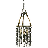 Warwick 3 Light 8 inch Mahogany Bronze Mini Chandelier Ceiling Light