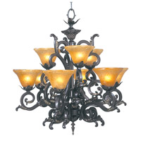 HA Framburg Palazzo 9 Light Dining Chandeliers in Mahogany Bronze 1129MB