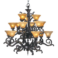 HA Framburg Palazzo 15 Light Foyer Chandeliers in Mahogany Bronze 1130MB