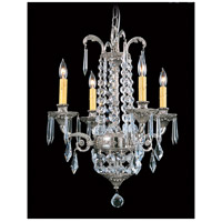 HA Framburg Czarina 4 Light Mini Chandelier in Polished Silver 1144PS