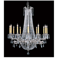 HA Framburg Czarina 12 Light Foyer Chandelier in Polished Silver 1152PS