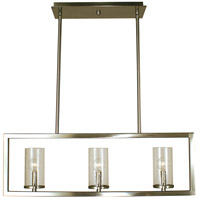Theorem 3 Light 30 inch Brushed Nickel Island Chandelier Ceiling Light