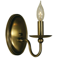 HA Framburg Quatrefoil 1 Light Sconce in Antique Brass 1158AB