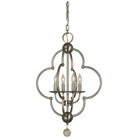 HA Framburg Quatrefoil 4 Light Dining Chandelier in Brushed Nickel 1160BN