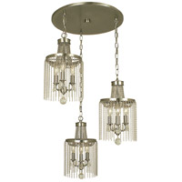 HA Framburg Guinevere 9 Light Island Chandelier in Brushed Nickel 1164BN