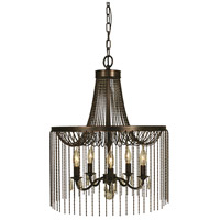 HA Framburg Guinevere 5 Light Dining Chandelier in Siena Bronze 1165SBR