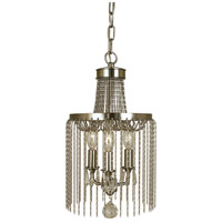 HA Framburg Guinevere 3 Light Mini Chandelier in Brushed Nickel 1167BN