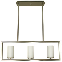 HA Framburg Theorem 3 Light Island Chandelier in Brushed Nickel 1193BN