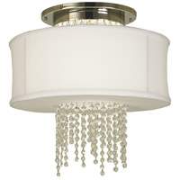 Angelique 4 Light 18 inch Polished Nickel Semi-Flush Mount Ceiling Light